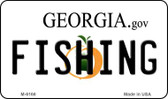 Fishing Georgia State License Plate Novelty Magnet M-6166