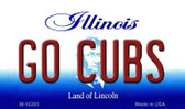 Go Cubs Illinois State License Plate Magnet M-10293