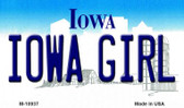 Iowa Girl State License Plate Novelty Magnet M-10937