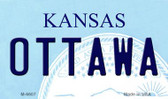 Ottawa Kansas State License Plate Novelty Magnet M-6607