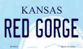 Red Gorge Kansas State License Plate Novelty Magnet M-6609