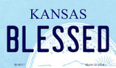 Blessed Kansas State License Plate Novelty Magnet M-6617