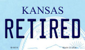 Retired Kansas State License Plate Novelty Magnet M-6618