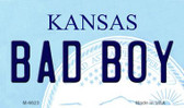 Bad Boy Kansas State License Plate Novelty Magnet M-6623