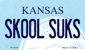 Skool Suks Kansas State License Plate Novelty Magnet M-6636