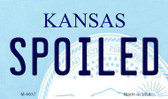 Spoiled Kansas State License Plate Novelty Magnet M-6637
