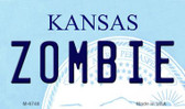 Zombie Kansas State License Plate Novelty Magnet M-6748