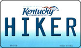 Hiker Kentucky State License Plate Novelty Magnet M-6776