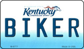 Biker Kentucky State License Plate Novelty Magnet M-6777