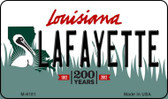 Lafayette Louisiana State License Plate Novelty Magnet M-6181