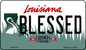 Blessed Louisiana State License Plate Novelty Magnet M-6191
