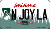 N Joy LA Louisiana State License Plate Novelty Magnet M-6195
