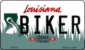 Biker Louisiana State License Plate Novelty Magnet M-6212