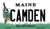 Camden Maine State License Plate Magnet M-10395