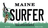 Surfer Maine State License Plate Magnet M-10399