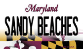 Sandy Beaches Maryland State License Plate Magnet M-10479