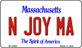 N Joy MA Massachusetts State License Plate Magnet M-10980