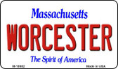 Worcester Massachusetts State License Plate Magnet M-10982