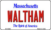 Waltham Massachusetts State License Plate Magnet M-10985