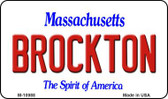 Brockton Massachusetts State License Plate Magnet M-10988