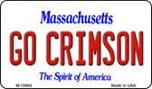 Go Crimson Massachusetts State License Plate Magnet M-10994