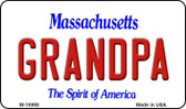 Grandpa Massachusetts State License Plate Magnet M-10998