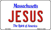 Jesus Massachusetts State License Plate Magnet M-11003