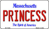 Princess Massachusetts State License Plate Magnet M-11009
