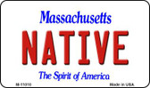 Native Massachusetts State License Plate Magnet M-11010