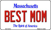 Best Mom Massachusetts State License Plate Magnet M-11016