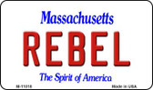 Rebel Massachusetts State License Plate Magnet M-11018