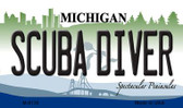 Scuba Diver Michigan State License Plate Novelty Magnet M-6130