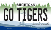 Go Tigers Michigan State License Plate Novelty Magnet M-11027