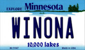 Winona Minnesota State License Plate Novelty Magnet M-11047