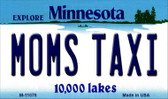 Moms Taxi Minnesota State License Plate Novelty Magnet M-11070