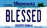 Blessed Minnesota State License Plate Novelty Magnet M-11074
