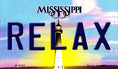 Relax Mississippi State License Plate Magnet M-6565