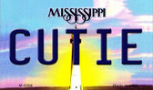Cutie Mississippi State License Plate Magnet M-6566