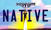 Native Mississippi State License Plate Magnet M-6578