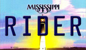 Rider Mississippi State License Plate Magnet M-6593