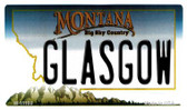 Glasgow Montana State License Plate Novelty Magnet M-11100