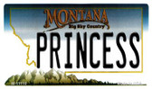 Princess Montana State License Plate Novelty Magnet M-11116