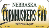 Corn Huskers Fan Nebraska State License Plate Magnet M-10581