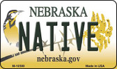 Native Nebraska State License Plate Magnet M-10599