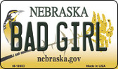 Bad Girl Nebraska State License Plate Magnet M-10603