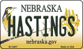 Hastings Nebraska State License Plate Magnet M-10607