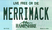 Merrimack New Hampshire State License Plate Magnet M-11142