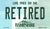 Retired New Hampshire State License Plate Magnet M-11154