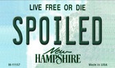 Spoiled New Hampshire State License Plate Magnet M-11157