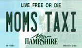 Moms Taxi New Hampshire State License Plate Magnet M-11164